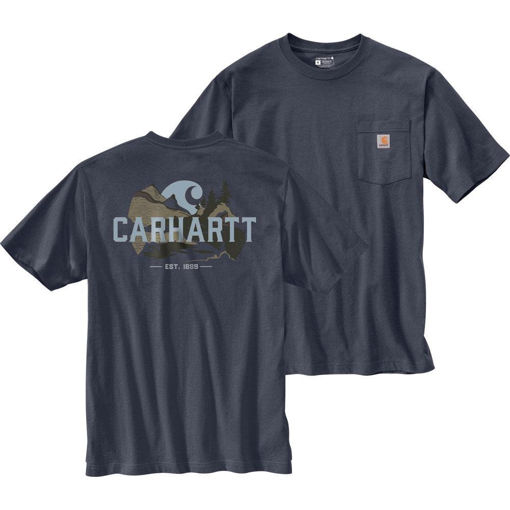 Carhartt Relaxed Fit Heavyweight Short- Sleeve Pocket Outdoor Graphic T- Shirt Men's