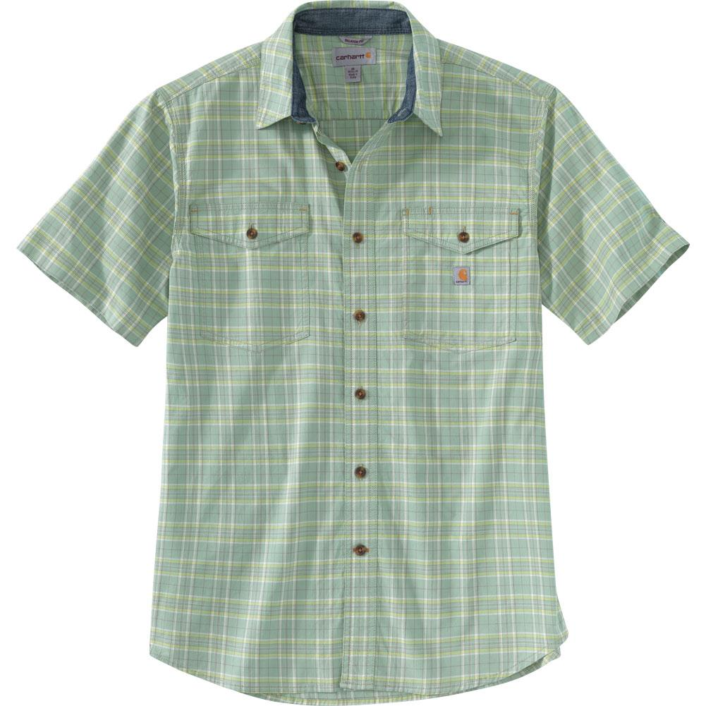 Carhartt Rugged Flex Relaxed Fit Lightweight Short- Sleeve Plaid Shirt Men's