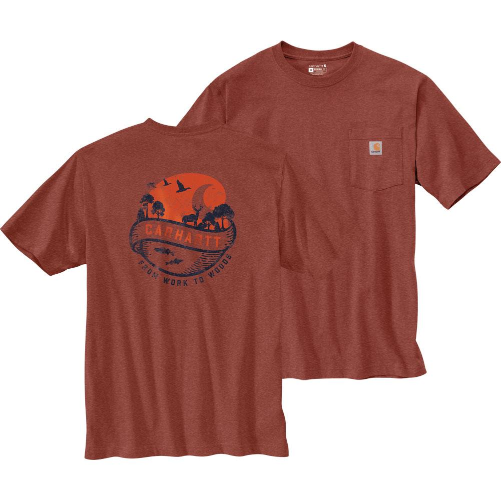 Carhartt Loose Fit Heavyweight Short- Sleeve Pocket Woods Graphic T- Shirt Men's