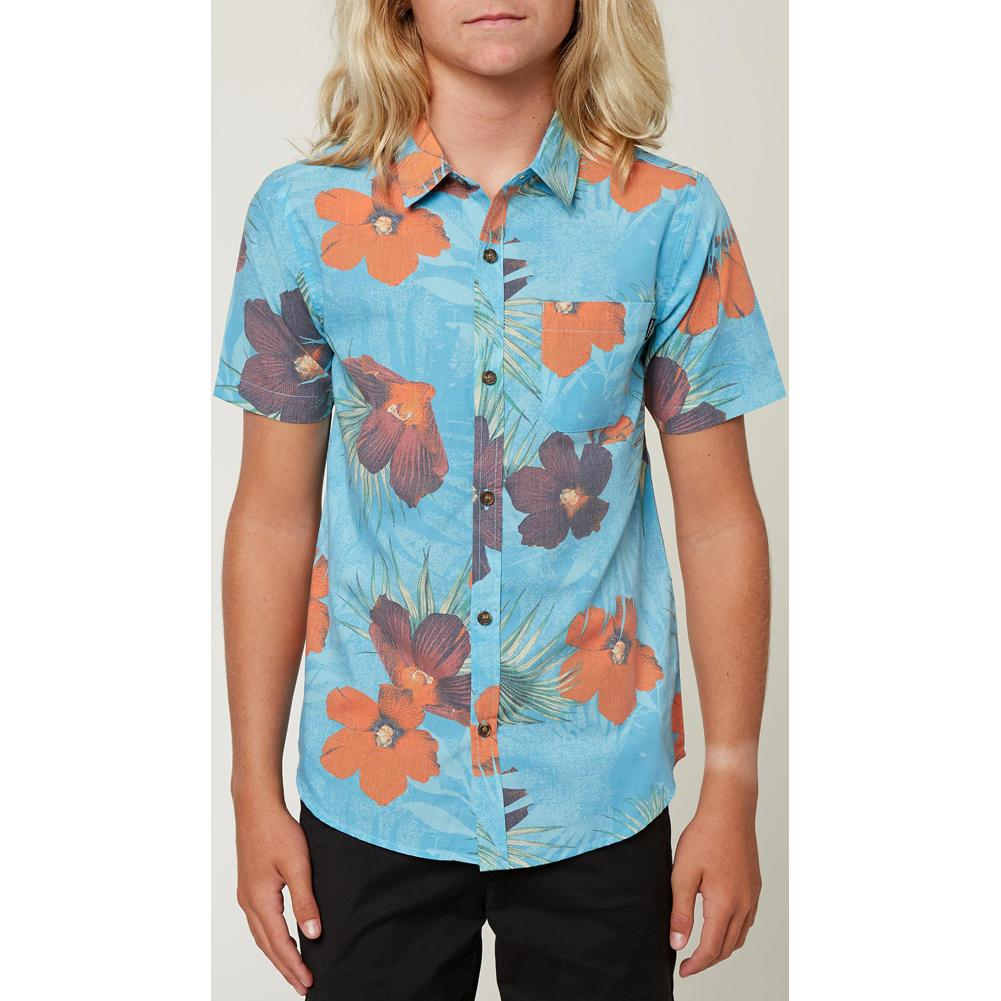 O ' Neill Bluster Short Sleeve Button- Up Shirt Boys '