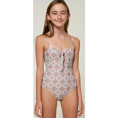 O'Neill Alexa Tile Tie Front One Piece Girls'