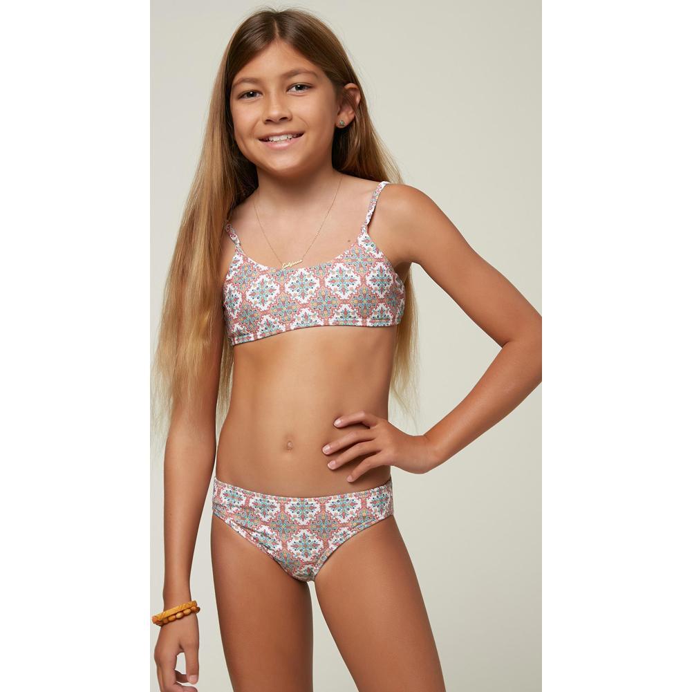 O ' Neill Alexa Tile Bralette Bikini Set Girls '