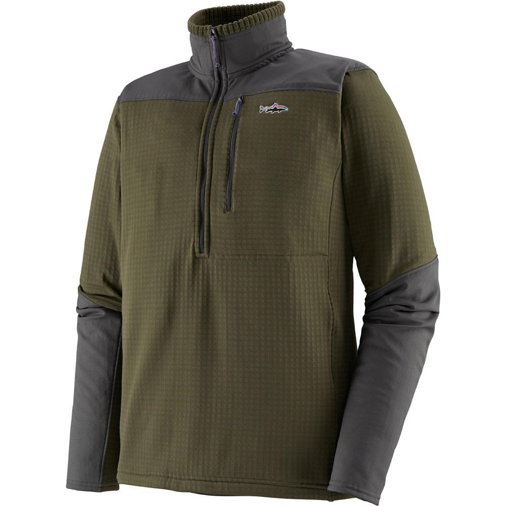Patagonia Long- Sleeve R1 Fitz Roy 1/4 Zip Fishing Top Men's