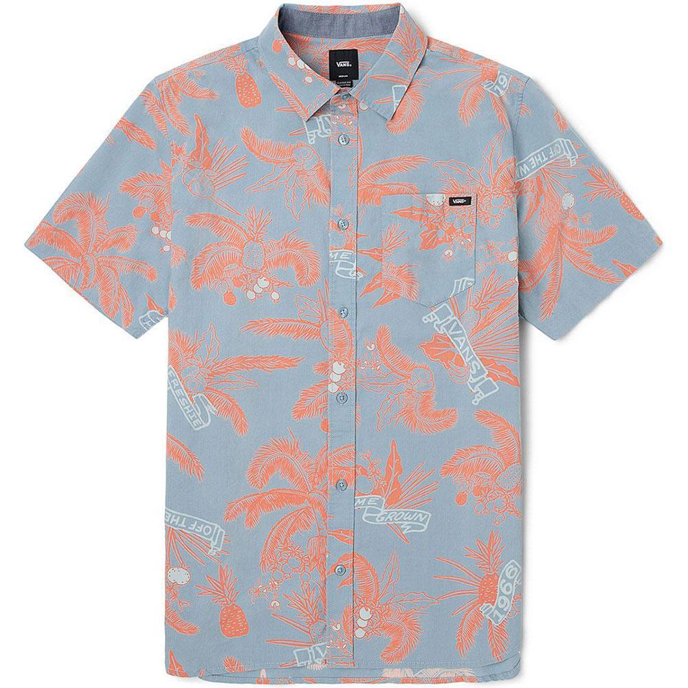 Vans Market Print Woven Button Up Shirt Men's