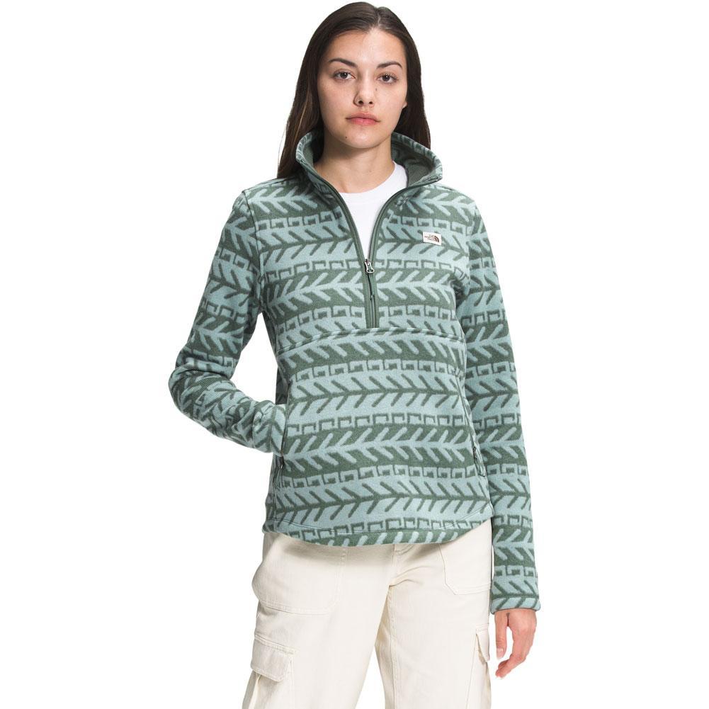 The North Face Printed Crescent 1/4 Zip Pullover Fleece Women's