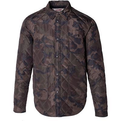 Schott Down-Filled Diamond Quilted Shirt Jacket Men's