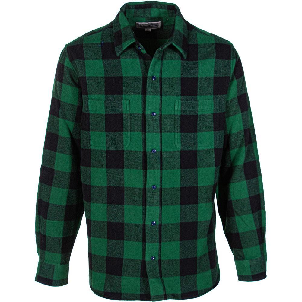 Schott Buffalo Check Plaid Cotton Flannel Shirt Men's