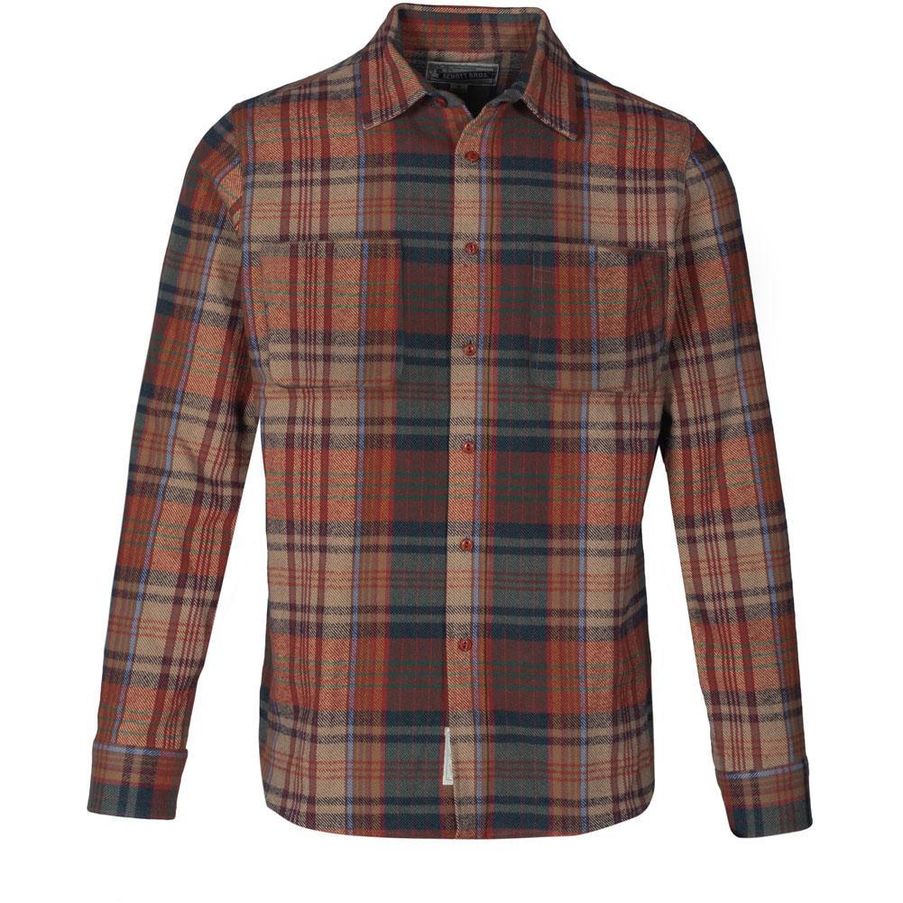 Schott Plaid Brushed Cotton Flannel Shirt Men's