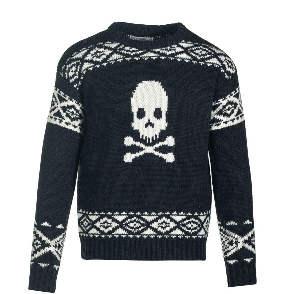 Schott Jolly Roger Wool Blend Motif Sweater Men's