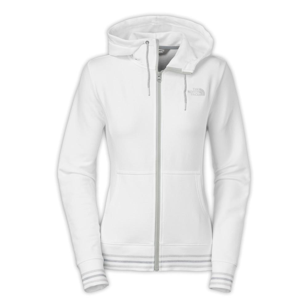 The North Face Stretch Logo Full-Zip Hoodie Women s TNF White f5bb8c875
