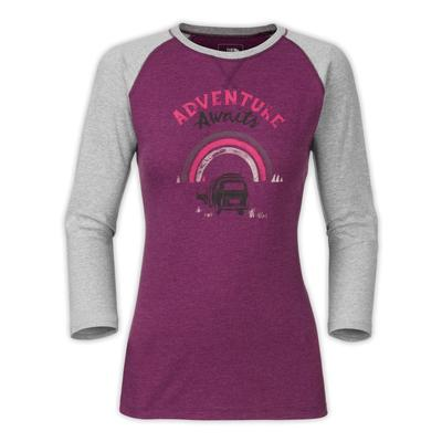The North Face 3/4-Sleeve Adventure Awaits Tee Women's