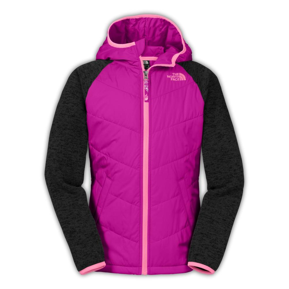 hoodie quilt l quilted girls s sports face sweater fleece north chalet the bob pink luminous