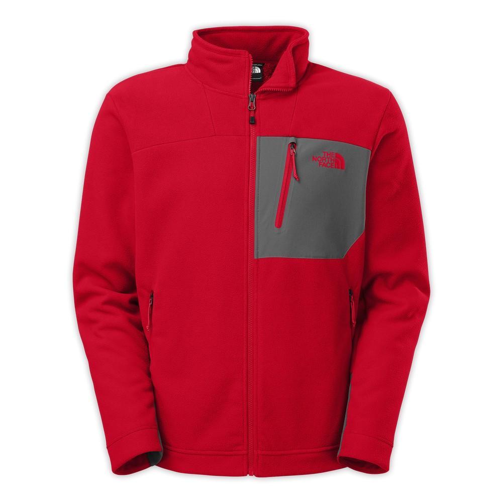 730424d115cc The North Face Chimborazo Full Zip Fleece Jacket Men s Rage Red