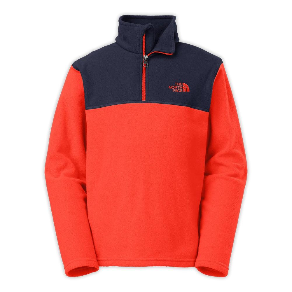 6e6337e28 The North Face Glacier 1/4 Zip Fleece Boys' Acrylic Orange ...