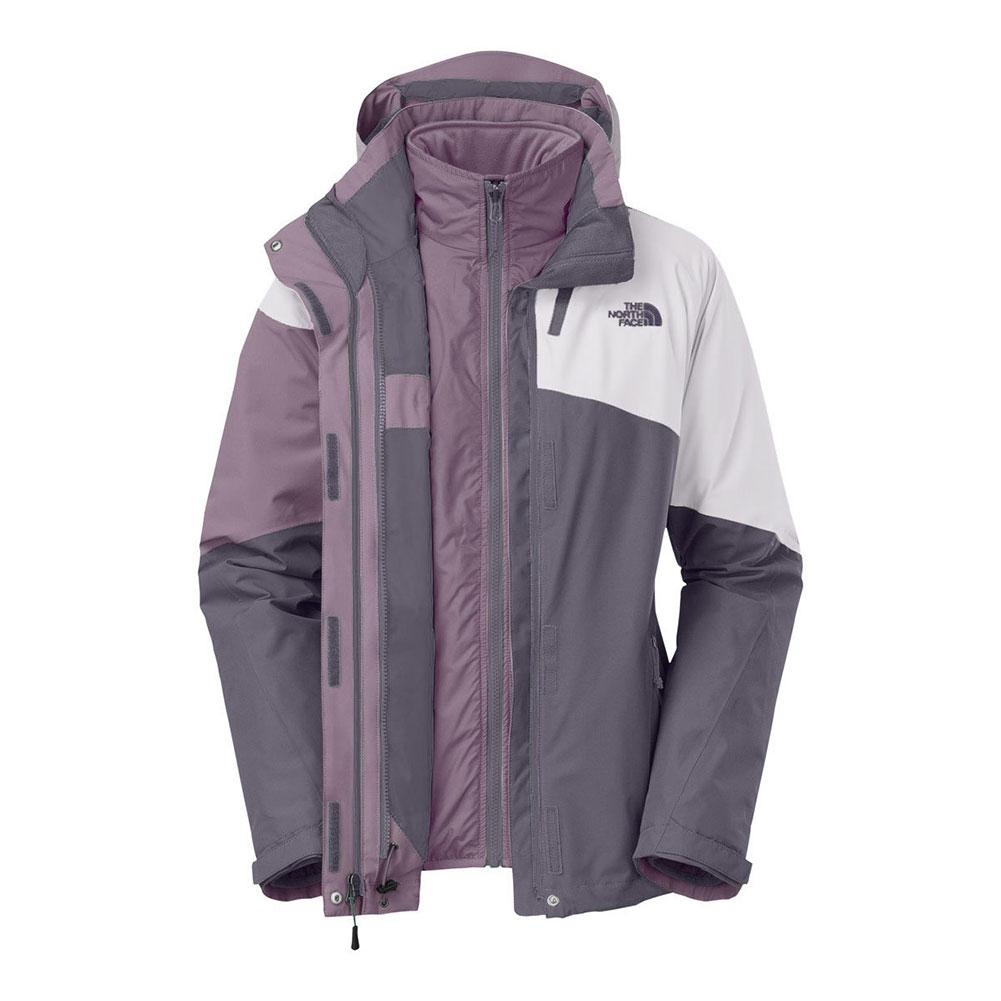 43da141cdbfb The North Face Cinnabar Triclimate Jacket Women s Rabbit Grey Quail Grey Rabbit  Grey ...