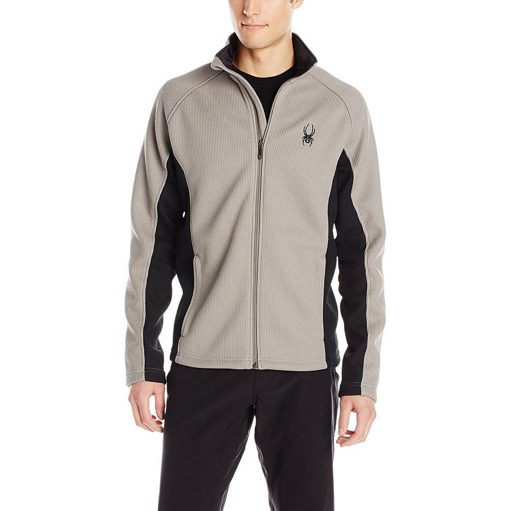 Spyder Constant Full-Zip Mid Weight Core Sweater Men s Graystone Black 3697a962d