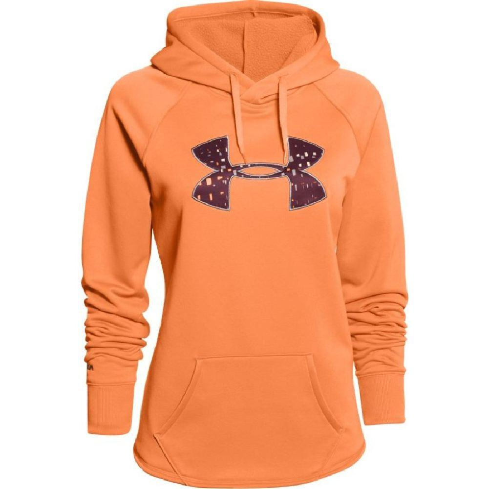 d93d040ccb87 Under Armour Rival Hoodie Women s Cyber Orange Ox Blood Boulder