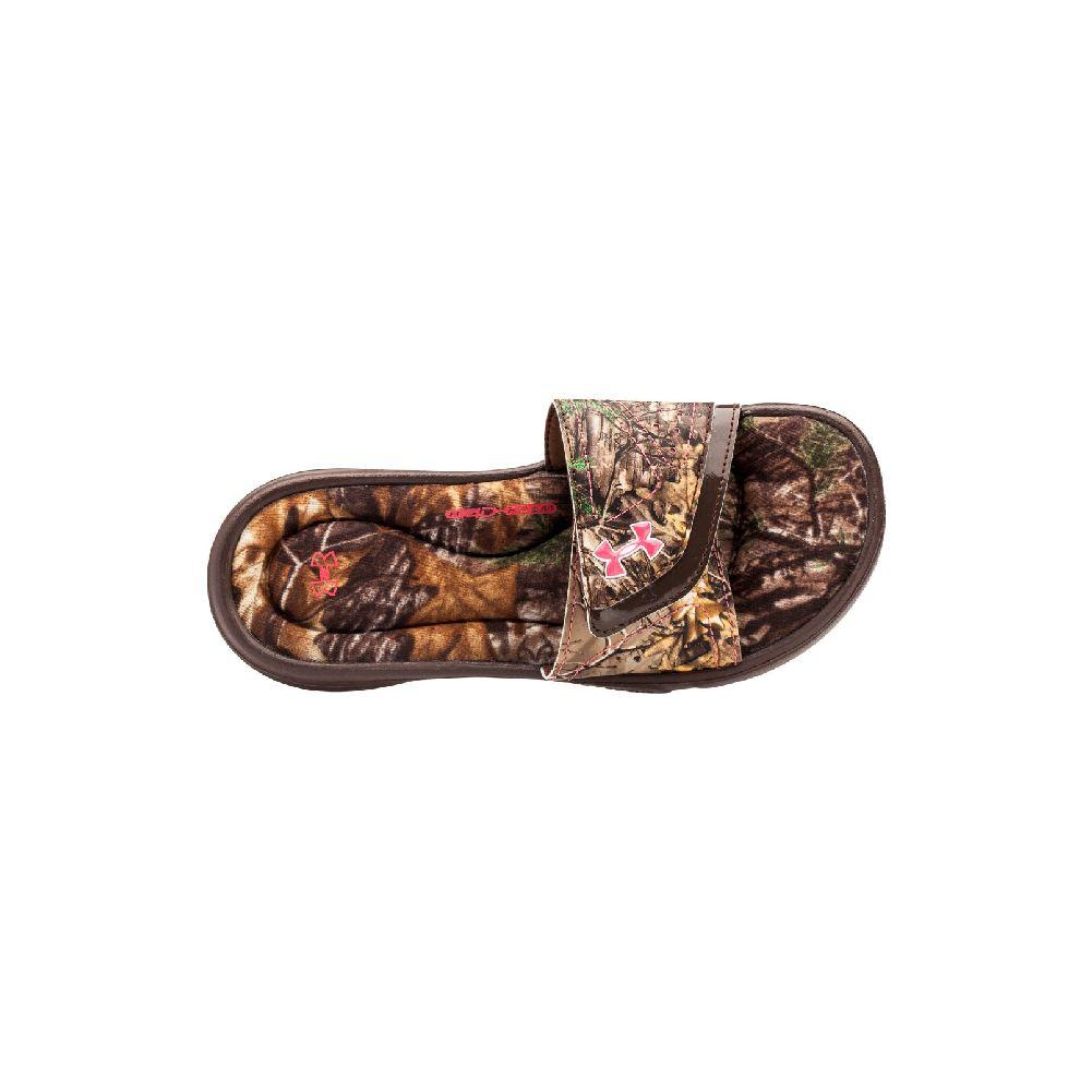 859186971a9f Under Armour Ignite Camo Vii Slide Girls  Cleveland Brown Realtree Ap Xtra