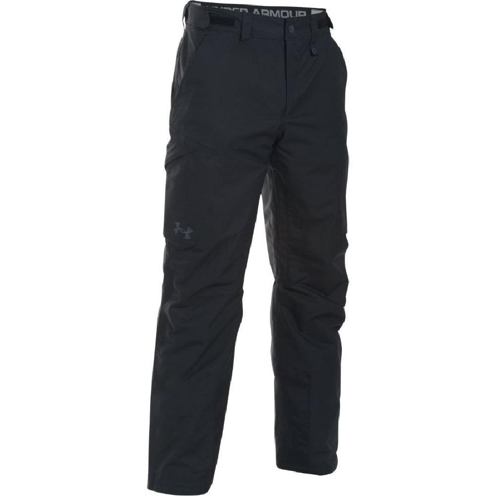 dda8599958ae Under Armour ColdGear Infrared Treblecone Insulated Cargo Pant Men s  Black Overcast Gray Stealth Gray