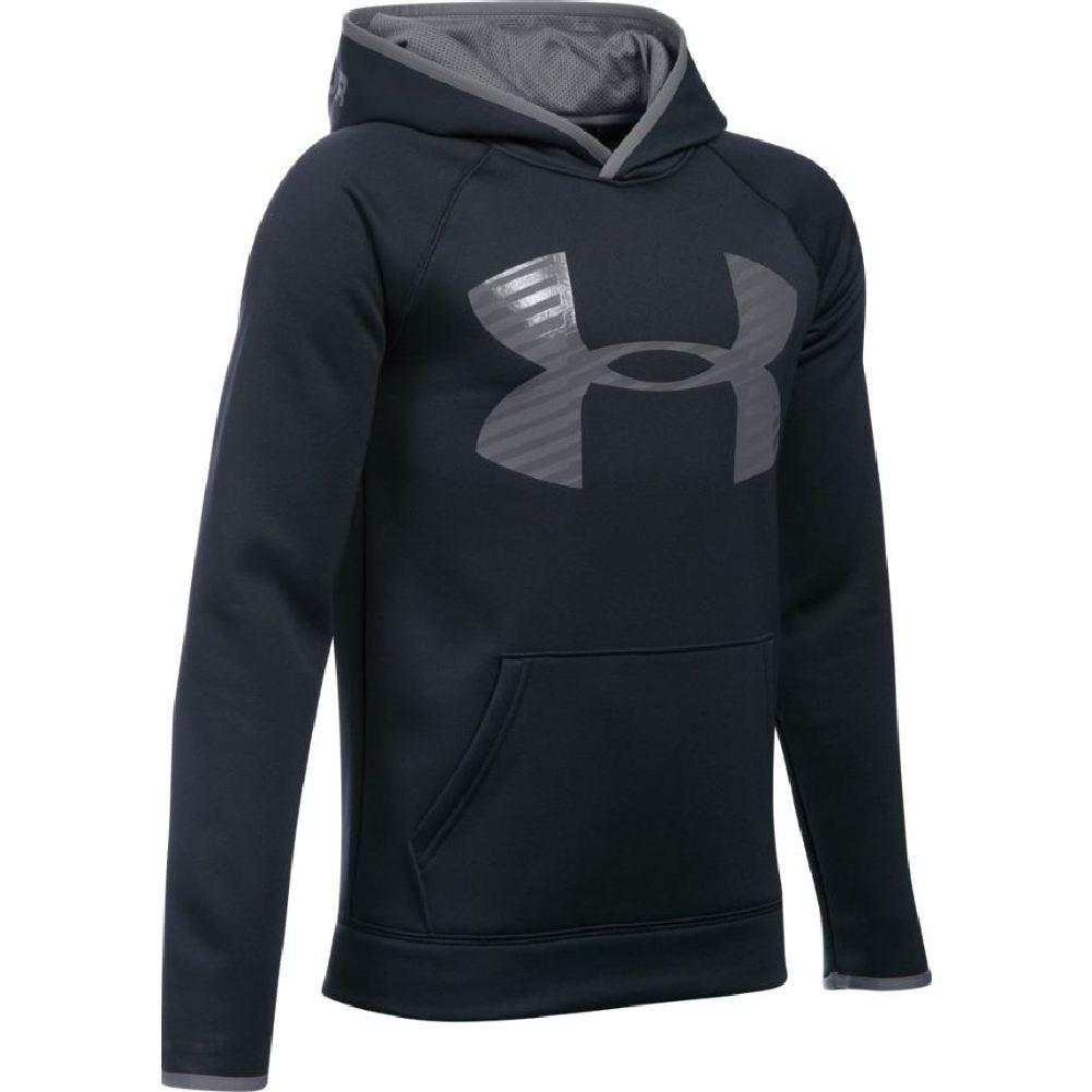 015f5e545 Under Armour Armour Fleece Storm Highlight Hoodie Boys'  Black/Graphite/Graphite ...