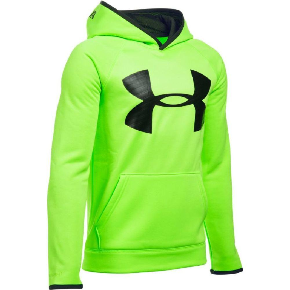 3ead462ea Under Armour Armour Fleece Storm Highlight Hoodie Boys' Fuel  Green/Black/Black