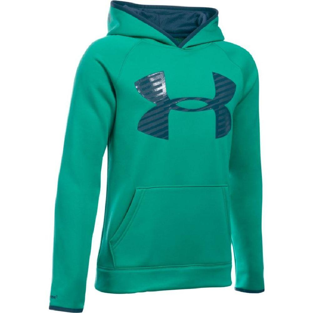 ca2200e07 Under Armour Armour Fleece Storm Highlight Hoodie Boys' Geode/Nova  Teal/Nova Teal