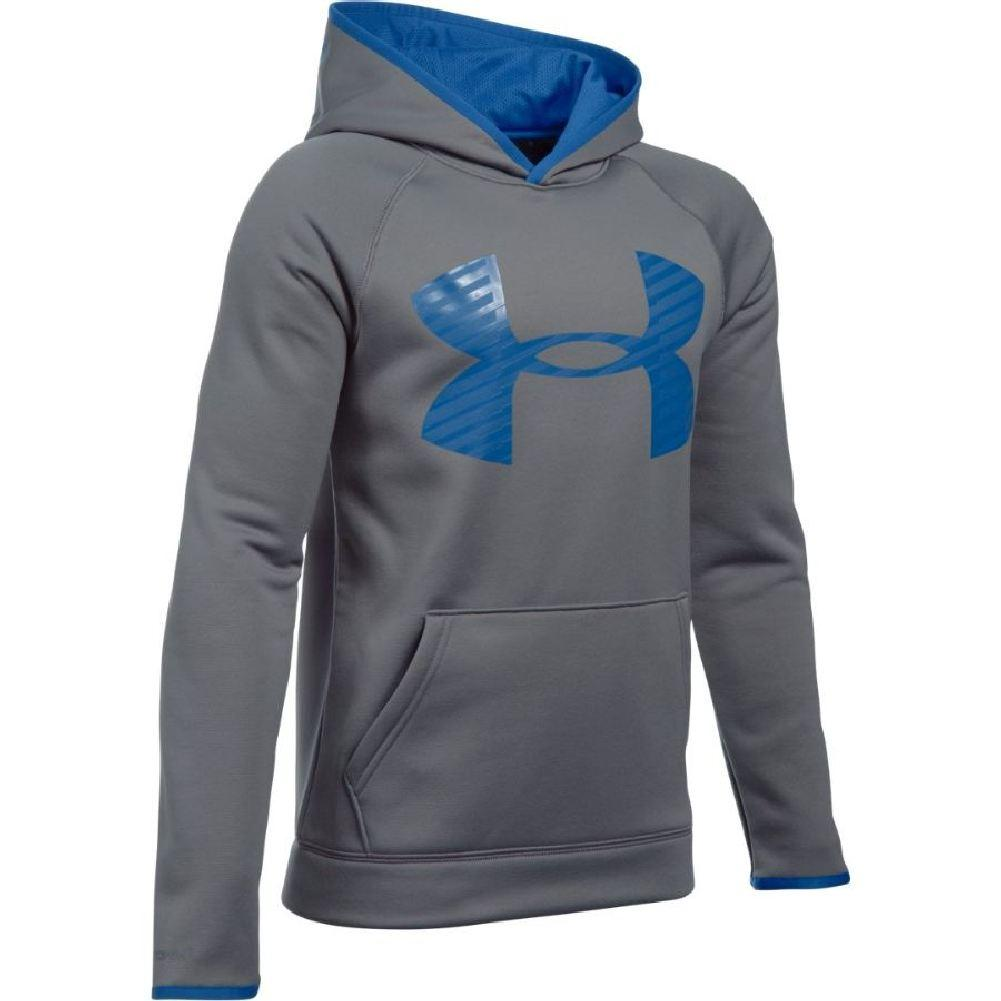 204f5ee20 Under Armour Armour Fleece Storm Highlight Hoodie Boys' Graphite/Ultra  Blue/Ultra Blue