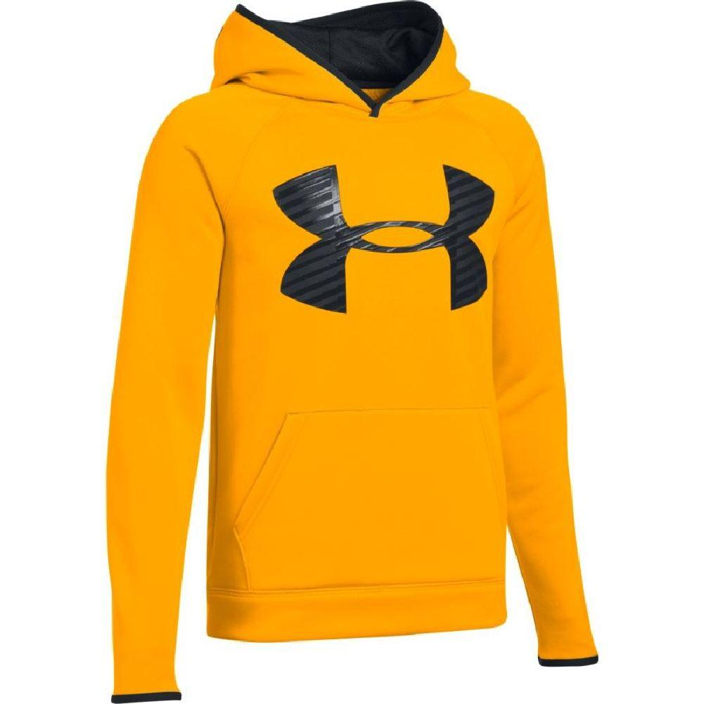 f6c22fa5b Under Armour Armour Fleece Storm Highlight Hoodie Boys' Steeltown  Gold/Black/Black