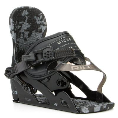 Ride Micro Snowboard Binding Youth Black
