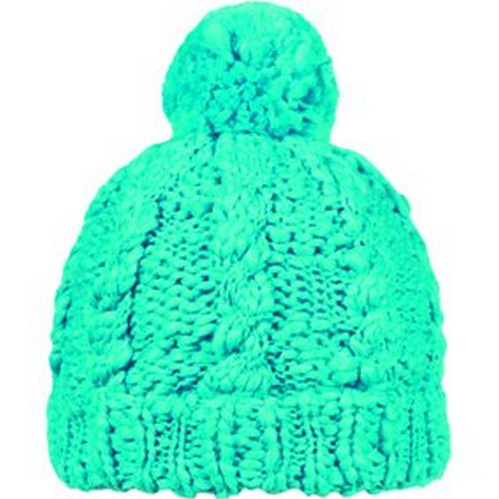387440a16f4 Turtle Fur Hand Knit Cheley Pom Hat Womens Turquoise