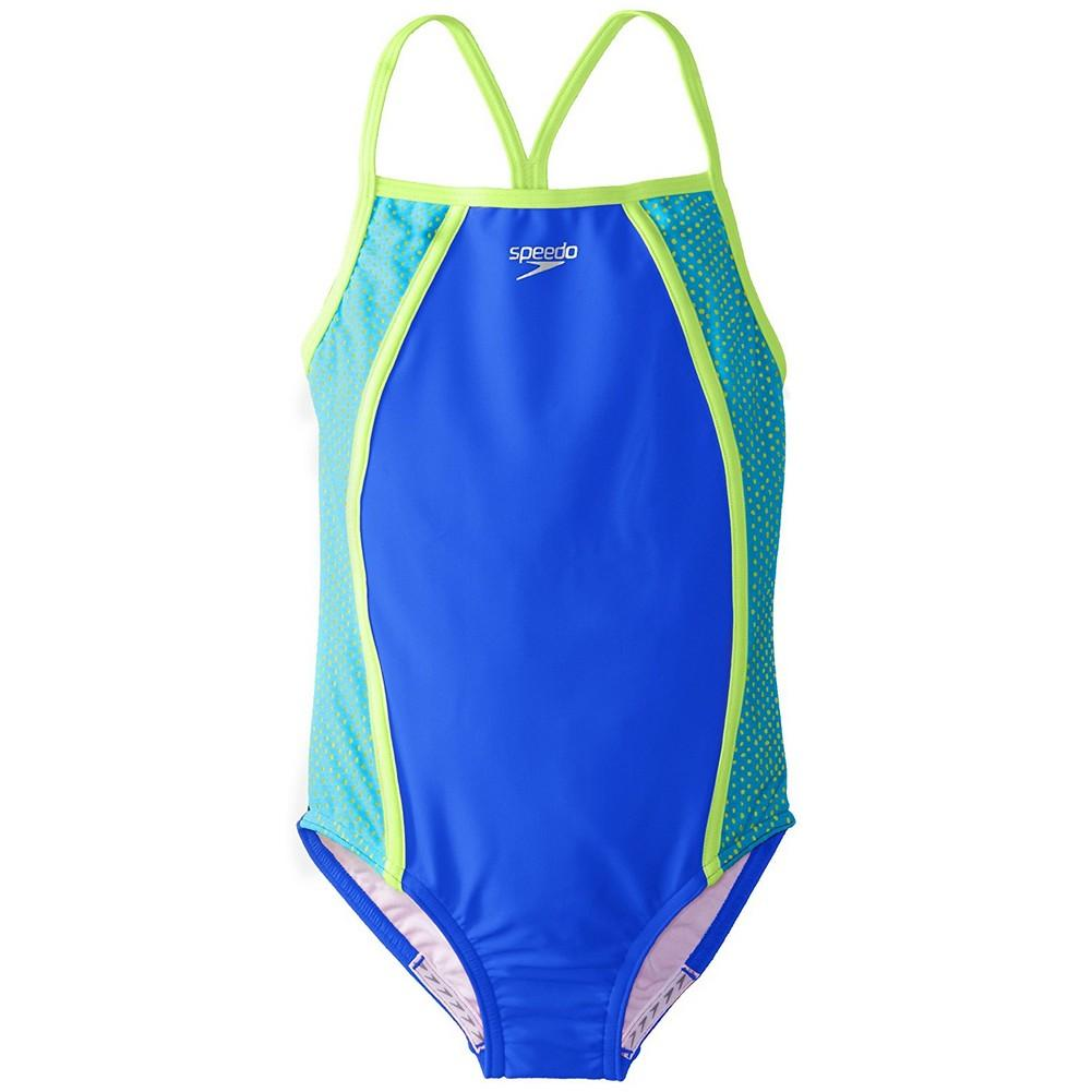 Speedo Mesh Thin Strap Swimsuit Girls '