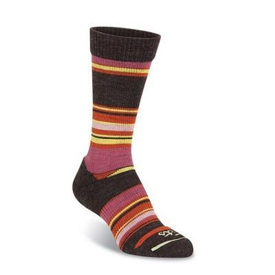 Fit Socks Casual Crew Socks Wide Stripe Women's
