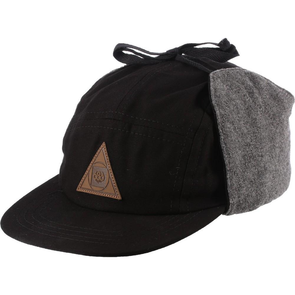 10e0dd59eb 686 Earflap 5 Panel Hat Men s Black Denim ...
