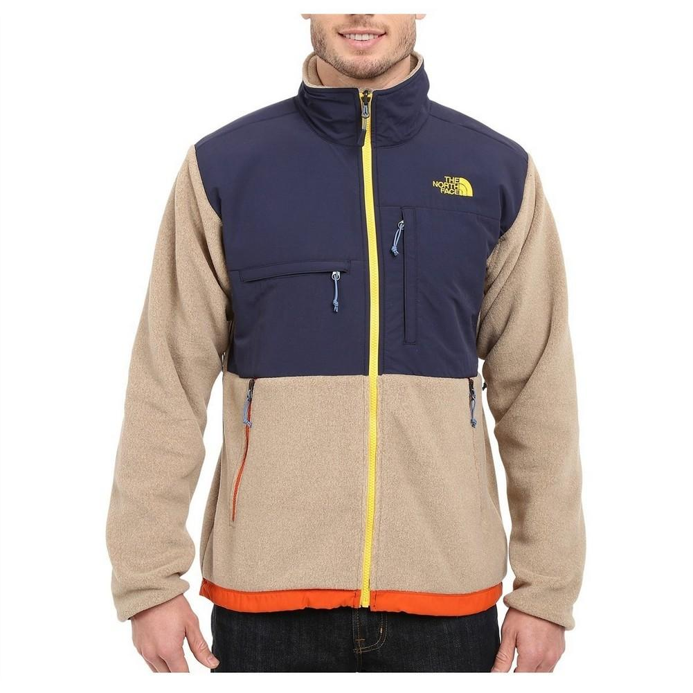 29825d3b4730 The North Face Denali Jacket Men s Recycled Dune Beige Heather Cosmic Blue