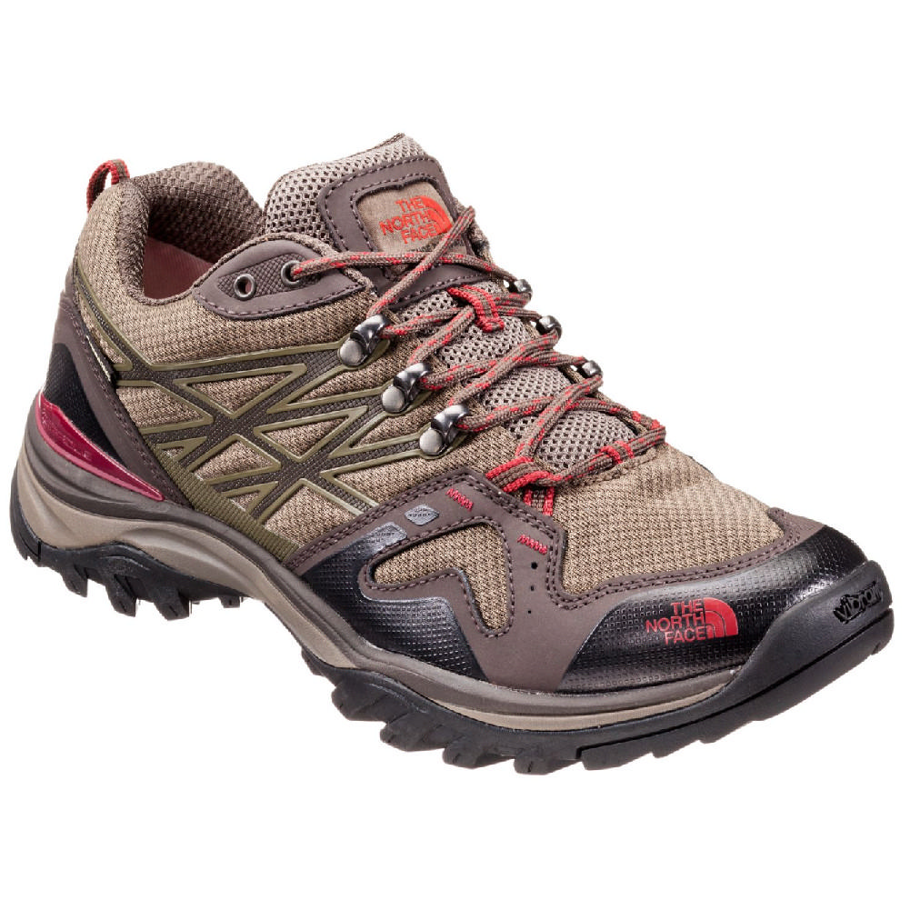 03338e9b06da The North Face Hedgehog Fastpack GTX Hiking Shoes Men s Coffee  Brown Rosewood Red