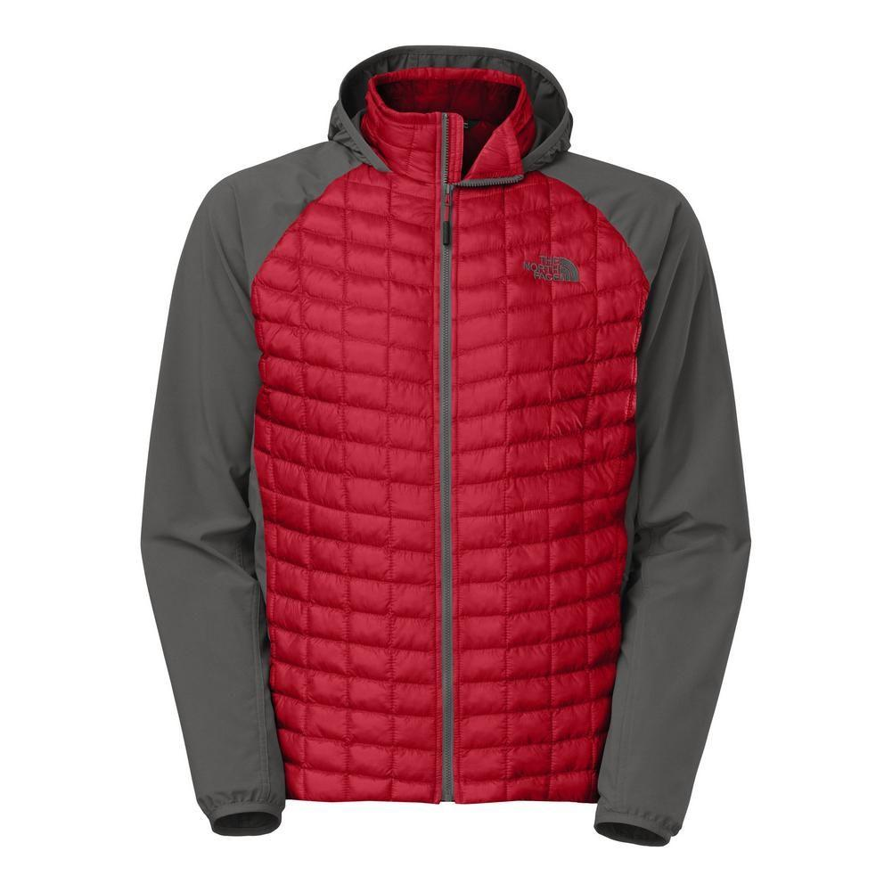 779b06e0bcca The North Face Thermoball Hybrid Hoodie Men's TNF Red/Asphalt Grey
