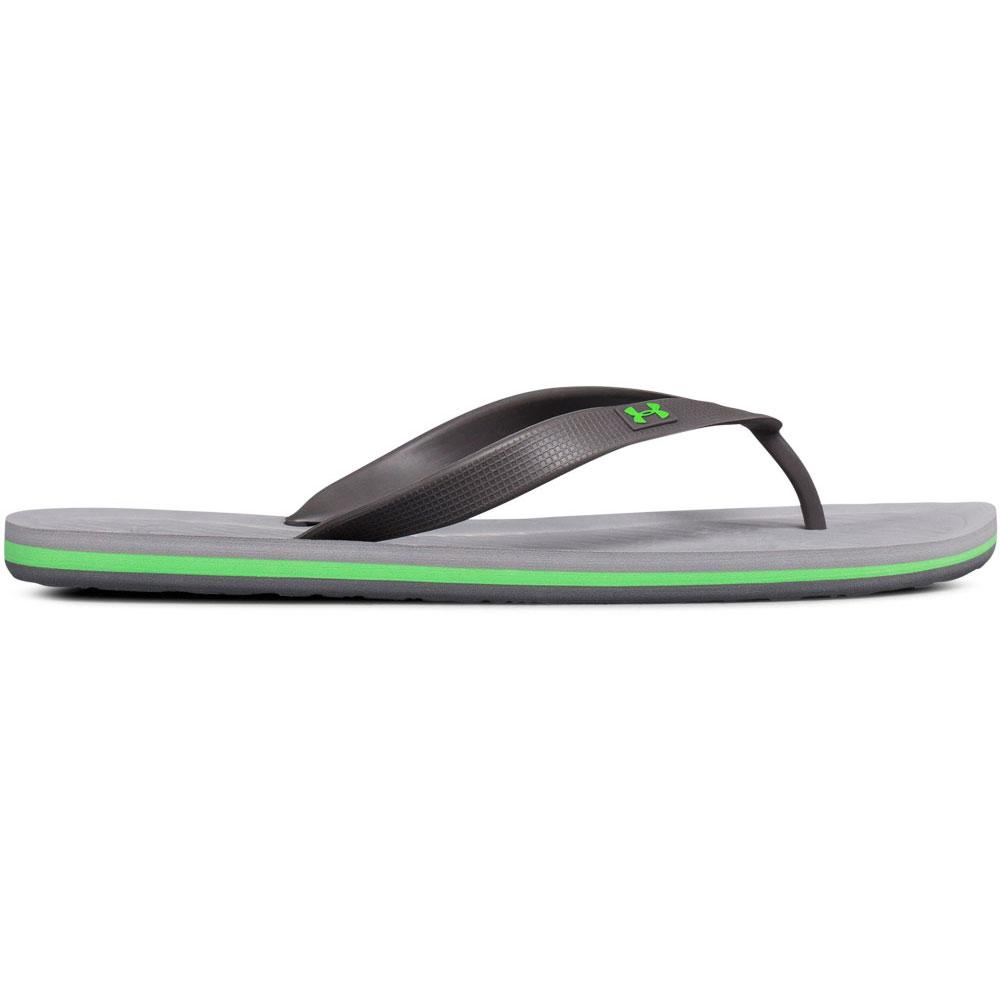 0cab0469212 Under Armour UA Atlantic Dune Flip Flops Men s GRAPHITE STEEL ARENA GREEN
