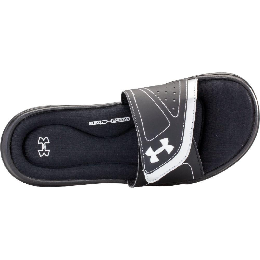 74f03a7ad Under Armour Ignite VII Slide Women s Black Metallic Silver BLACK NEO PULSE