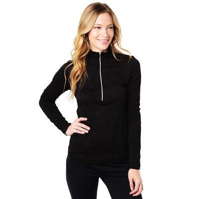 Sno Skins Dotted Jacquard Zip Neck Women's