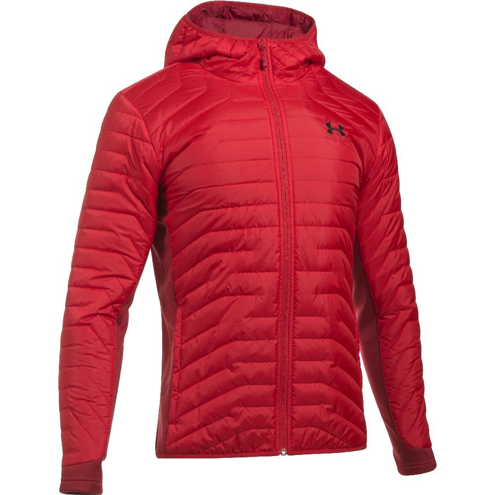 pretty nice 6f330 a7eb4 Under Armour ColdGear Reactor Hybrid Jacket Men s RED CRIMSON BLACK ...