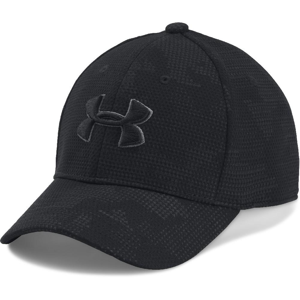 59d27903cc2 Under Armour Printed Blitzing Cap Boys  BLACK GRAPHITE BLACK