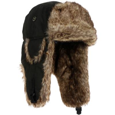 Mad Bomber Wabbit Brown Faux Fur Bomber Hat