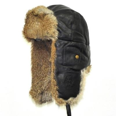 MAD BOMBER LEATHER TRAPPER HAT