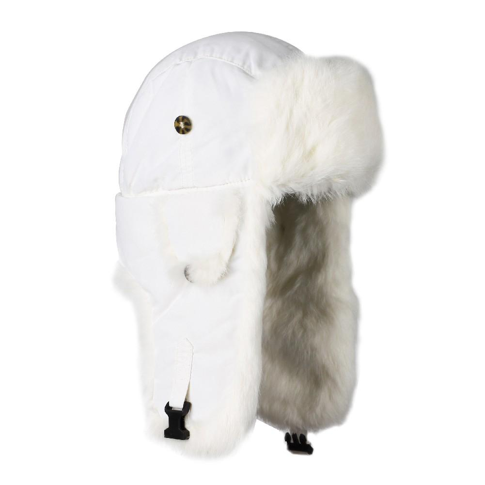 1214a159 Mad Bomber Original Trapper Hat WHITE/WHITE