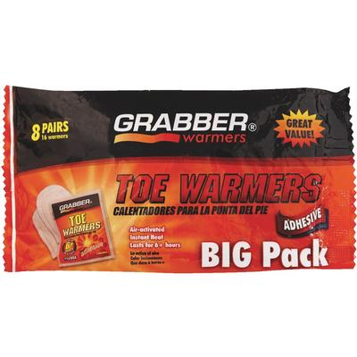 Grabber Toe Warmer 8 Pair Pack
