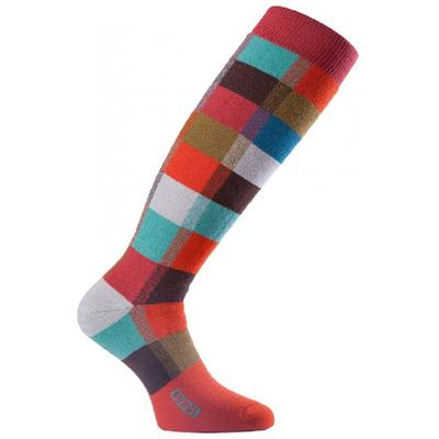 Eurosocks Checkered Medium Weight Over The Calf Sock Women's