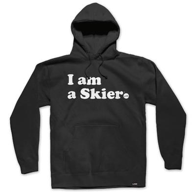 Line I Am A Skier Pullover Hoodie Men's