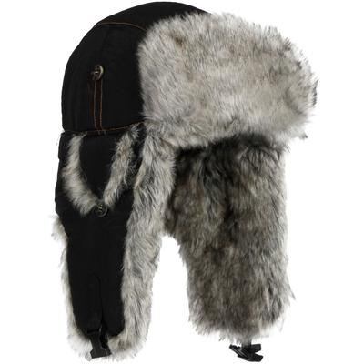 Mad Bomber Wabbit Grey Faux Fur Bomber Hat