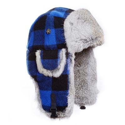 MAD BOMBER WOOL PLAID FAUX FUR BOMBER HA