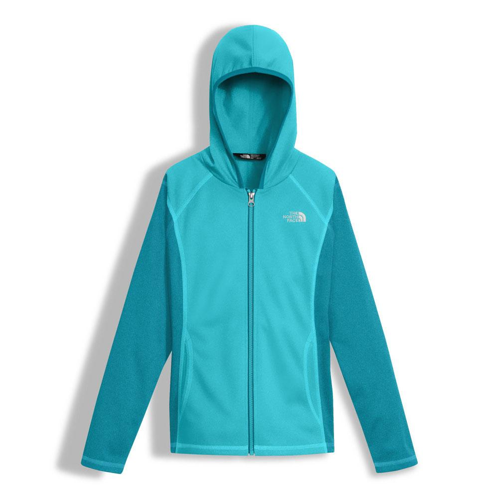 f0a38e756ea70 The North Face Tech Glacier Full Zip Hoodie Girls' BLUE CURACAO ...